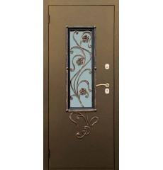 Дверь входная металлическая нестандартная Лютик
