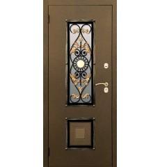 Дверь входная металлическая нестандартная Солнце