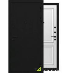 Дверь входная металлическая ДЕКАНТО ЧЕРНЫЙ БУКЛЕ / БЕЛЫЙ БАРХАТ