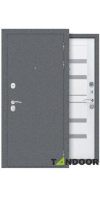 Дверь входная металлическая ДРЕЗДЕН СЕРЫЙ БУКЛЕ / ВИНИЛ
