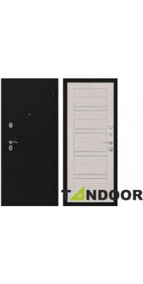 Дверь входная металлическая ЭКО ЧЕРНЫЙ БУКЛЕ / ЛИСТВЕННИЦА СВЕТЛАЯ