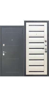 Входная дверь 7,5 Гарда Муар ЦАРГА Белый кипарис