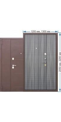Входная дверь 7,5 Гарда (1200 и 1300 х 2050 и 2200) Венге Тобакко