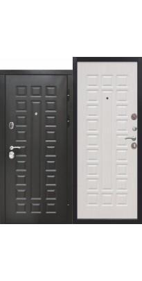 Входная дверь 12 см СЕНАТОР МДФ/МДФ (Венге/Белый ясень)