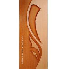 Дверь деревянная межкомнатная ЛИЛИЯ 2 дуб\орех ПГ