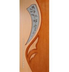 Дверь деревянная межкомнатная ЛИЛИЯ 2 дуб\орех ПО