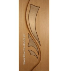 Дверь деревянная межкомнатная ЛИЛИЯ дуб ПО