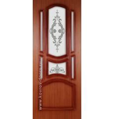 Дверь деревянная межкомнатная ВИКТОРИЯ макоре ПО