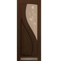 Дверь деревянная межкомнатная ЛАУРА ПО Шоколад