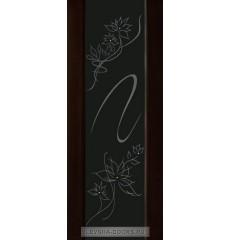 Дверь деревянная межкомнатная МОДЕЛЬ №100 ПО рис.19 Венге Темный