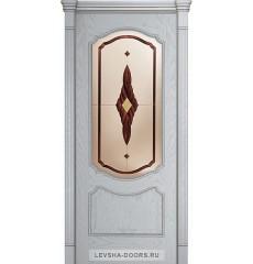 Дверь деревянная межкомнатная ВЕРОНА ПО Корсика Снежный Дуб
