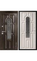 """Дверь входная металлическая """"МЕТАЛЮКС"""" СМ60.2 «Дуб т..», «Ясень крем.»"""