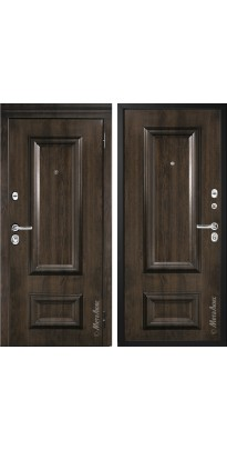 """Дверь входная металлическая """"МЕТАЛЮКС"""" М75.1 дуб тёмный"""