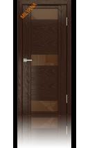 Дверь деревянная межкомнатная QDO R Шоколад