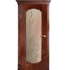 Дверь межкомнатная Венеция-2 красное дерево