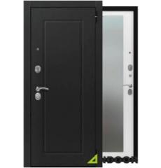 Дверь входная металлическая ОРИОН ЯСЕНЬ ЧЕРНЫЙ / ЯСЕНЬ БЕЛЫЙ СНЕГ
