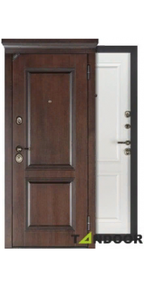 Дверь входная металлическая ПЕРФЕКТО АРТВУД АНГЛИЙСКИЙ ОРЕХ / ДУБ БЕЛОВЕЖСКИЙ