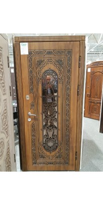 Дверь входная металлическая А-14 со стеклопакетом