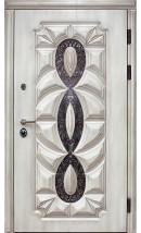 Дверь металлическая для загородного дома «Оскар  3D полиуретан»