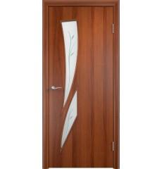 Дверь деревянная межкомнатная ТИП С-02 Ф итальянский орех
