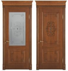 Дверь деревянная межкомнатная ФЛОРЕНЦИЯ декор массив дуба