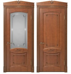 Дверь деревянная межкомнатная ВЕНЕЦИЯ массив дуба