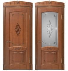 Дверь деревянная межкомнатная ВЕНЕЦИЯ декор массив дуба