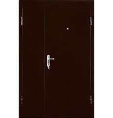 Дверь металлическая КВАРТЕТ DL медь антик/итальянский орех 1250 х 2066