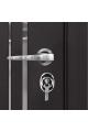 Дверь металлическая КАМЕЛОТ Черный муар/Орех mix темный