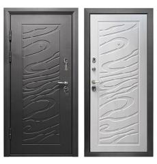 Дверь металлическая ДЖАЗ Черный муар\Сосна прованс