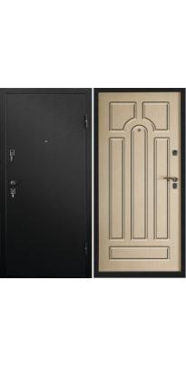 Дверь металлическая АККОРД черный муар/дуб пикар