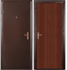 Дверь металлическая СПЕЦ медь антик/ итальянский орех