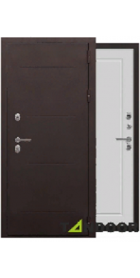 Дверь входная металлическая ВИНТЕР МУАР КОРИЧНЕВЫЙ / БЕЛЫЙ КАПУЧИНО