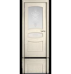 Дверь деревянная межкомнатная ВЕНЕЦИЯ ясень жемчуг