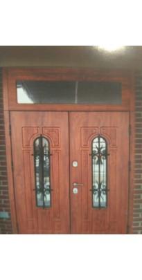 Дверь входная металлическая со стеклом (стеклопакетом) 11+11 по индивидуальному размеру под заказ