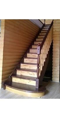 Лестница прямая (прямозаходная) сосна + берёза двухсцветная серии (стандарт)