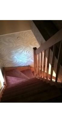 Лестница с поворотом на 90 градусов сосна + берёза (стандарт)