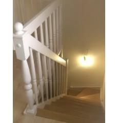 Лестница с поворотом на 180 градусов сосна + берёза (стандарт)