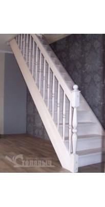 Лестница прямая (прямозаходная) сосна + берёза серии (престиж)