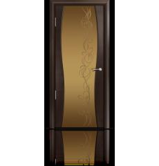 Дверь деревянная межкомнатная ОМЕГА 1 венге стразы