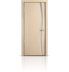 Дверь деревянная межкомнатная ОМЕГА 1 белёный дуб