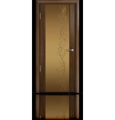 Дверь деревянная межкомнатная ОМЕГА 2 орех ПО