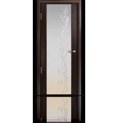Дверь деревянная межкомнатная ОМЕГА 2 венге стразы