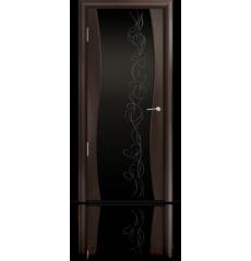 Дверь деревянная межкомнатная ОМЕГА венге стразы