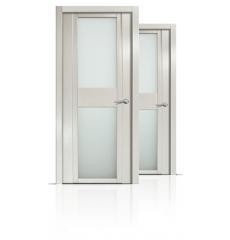 Дверь деревянная межкомнатная QDO D дуб белёный