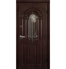 Дверь входная металлическая ФЛОРА орех коньячный